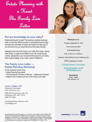 Estate Planning with a Heart The Family Love Letter
