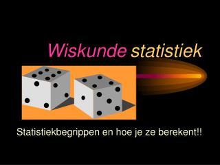 Wiskunde statistiek
