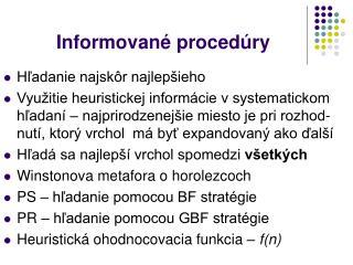 Informované procedúry
