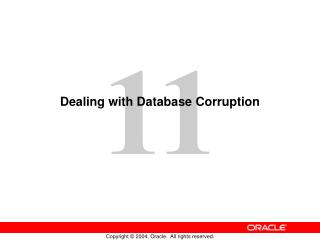 Dealing with Database Corruption