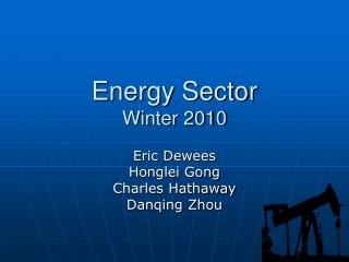 Energy Sector Winter 2010