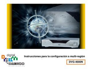 Instrucciones para la configuración a multi-región
