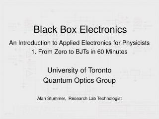 Black Box Electronics