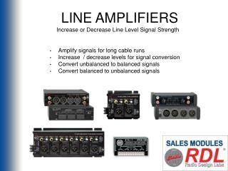 LINE AMPLIFIERS