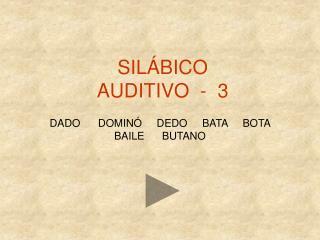 SIL�BICO  AUDITIVO  -  3