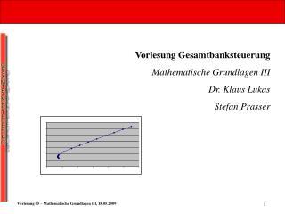 Vorlesung Gesamtbanksteuerung Mathematische Grundlagen III Dr. Klaus Lukas Stefan Prasser