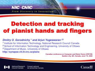 Detection and tracking  of pianist hands and fingers