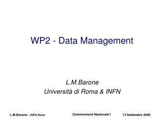 WP2 - Data Management