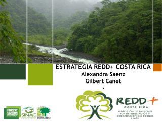 ESTRATEGIA REDD+ COSTA RICA Alexandra Saenz Gilbert Canet A