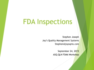 Preparing for an FDA Audit