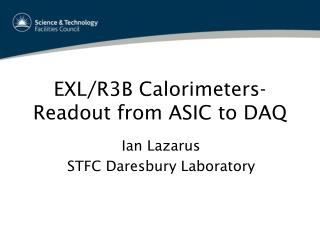 EXL/R3B Calorimeters- Readout from ASIC to DAQ