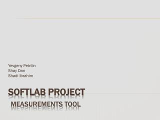 Softlab  Project Measurements Tool