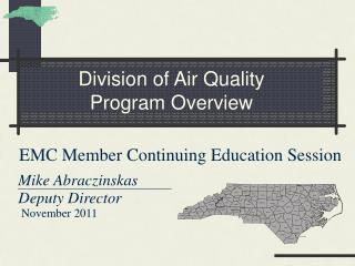 Division of Air Quality Program Overview