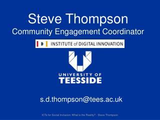 Steve Thompson Community Engagement Coordinator