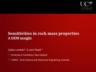 Sensitivities in rock mass properties A DEM insight