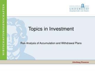 Topics in Investment