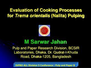 M Sarwar Jahan
