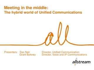 Meeting in the middle: The hybrid world of Unified Communications