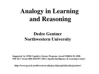 Analogy in Learning  and Reasoning