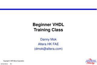 Beginner VHDL Training Class
