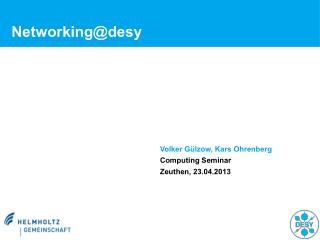 Networking@desy