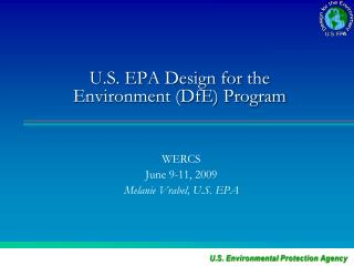 U.S. EPA Design for the Environment (DfE) Program