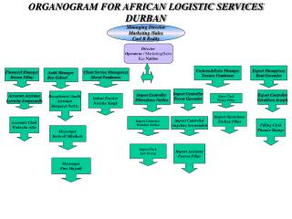 ORGANOGRAM FOR AFRICAN LOGISTIC SERVICES DURBAN