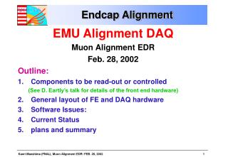 Endcap Alignment