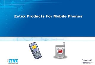 Zetex Products For Mobile Phones