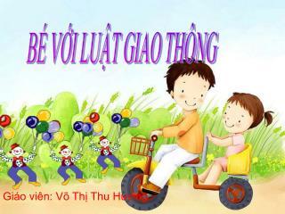 Giáo viên: Võ Thị Thu Hương