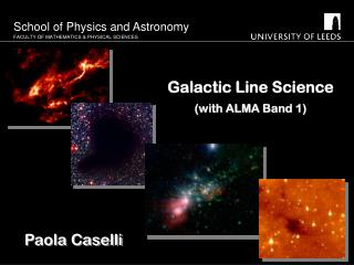 Galactic Line Science (with ALMA Band 1)