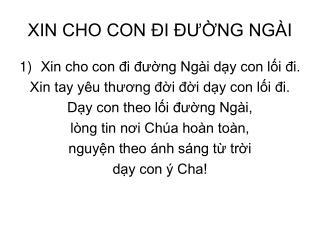 XIN CHO CON ?I ???NG NG�I