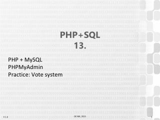 PHP +SQL 13 .