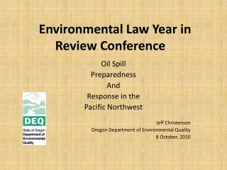 Environmental Law Year in Review Conference