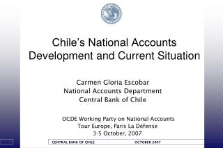 Chile�s National Accounts Development and Current Situation