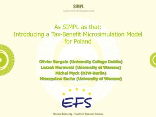 As SIMPL as that:  Introducing a Tax-Benefit Microsimulation Model  for Poland