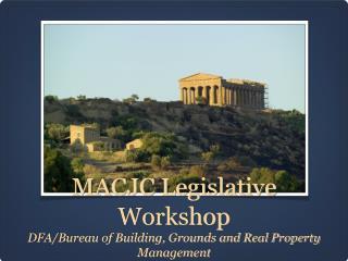 MACJC Legislative Workshop