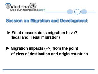 Session on Migration and Development