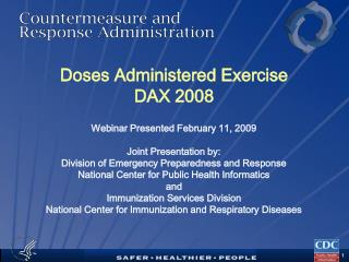 Doses Administered Exercise DAX 2008
