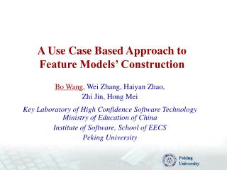 A Use Case Based Approach to Feature Models' Construction
