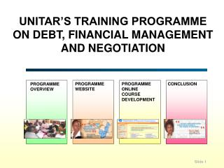 UNITAR'S TRAINING PROGRAMME ON DEBT, FINANCIAL MANAGEMENT  AND NEGOTIATION