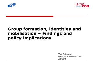 Group formation, identities and mobilisation – Findings and policy implications