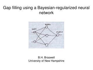 Gap filling using a Bayesian-regularized neural network