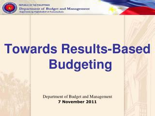 Towards Results-Based Budgeting