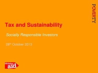 Tax and Sustainability