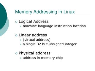 Memory Addressing in Linux