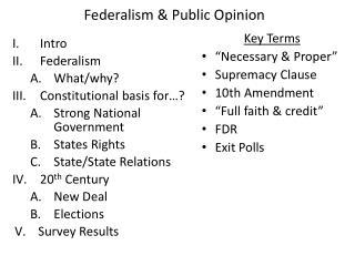 Federalism  Public Opinion