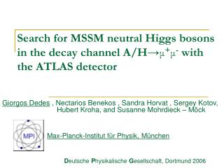 Search for MSSM neutral Higgs bosons in the decay channel A/H→ μ + μ - with the ATLAS detector
