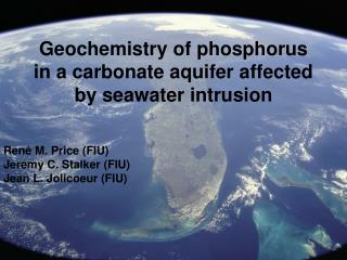 Geochemistry of phosphorus in a carbonate aquifer affected by seawater intrusion