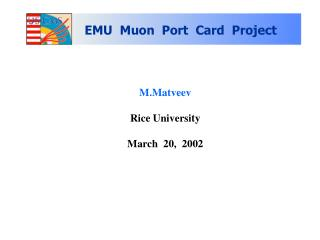 M.Matveev Rice University March  20,  2002